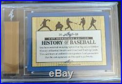2018 Leaf History of Baseball TED WILLIAMS Auto Cut Signature Autograph /50