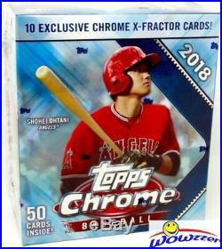 2018 Topps Chrome Baseball HUGE Factory Sealed MONSTER Box-X-FRACTORS