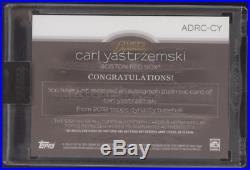 2018 Topps Dynasty Carl Yastrzemski Dual Jersey Bat Auto /5