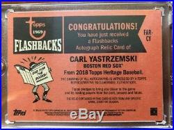 2018 Topps Heritage Carl Yastrzemski Flashbacks Jersey Patch Auto #08/25
