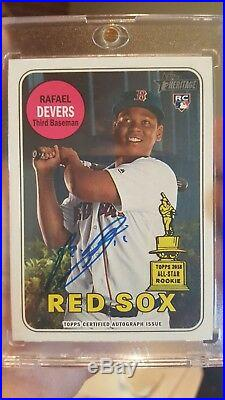 2018 Topps Heritage Rafael Devers RC Blue Auto All-star Rookie Boston Red Sox