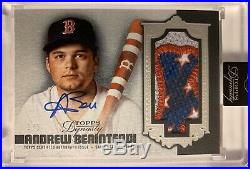 2019 Topps Dynasty Andrew Benintendi Autograph Jumbo Patch #1/5 Red Sox Auto
