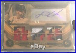 2019 Topps Triple Threads 1/1 WOOD J. D. Martinez Auto Patch Boston Red Sox SSP