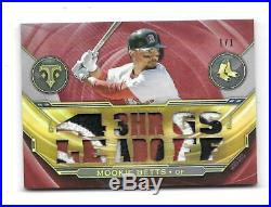 2019 Topps Triple Threads Mookie Betts Ruby Patch 1/1 Boston Red Sox Game Used