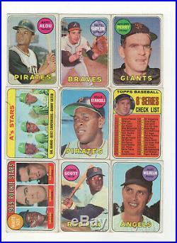 397 count lot 1969 Topps Baseball Cards NO DUPES! STARTER SET! MANY STARS/HOF/RC