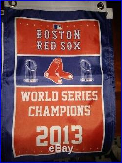 9 PIECE SET, Red Sox World Series Mini Banners (12in. X 18in.)