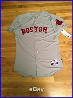 Authentic Majestic Boston Red Sox Blank Road Jersey Size 44 Cool Base