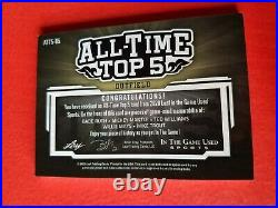 BABE RUTH Mickey Mantle TED WILLIAMS WILLIE MAYS MIKE TROUT JERSEY BAT CARD #2/7
