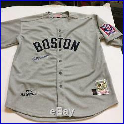 Beautiful Ted Williams Signed 1939 Boston Red Sox Rookie Jersey With JSA COA