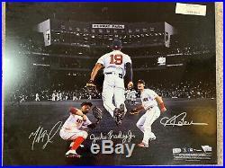 Benintendi, Betts, & JBJ Red Sox 2018 World Series Champs Signed 16 x 20 Photo