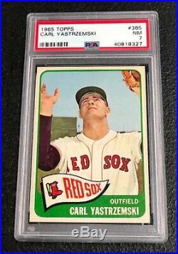 Boston Red Sox Carl Yastrzemski 1965 Topps #385 PSA 7 Near Mint