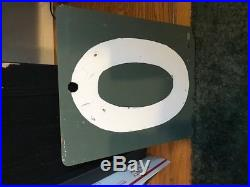 Boston Red Sox Fenway Park Green Monster Game Used Scoreboard # 0 Authentic