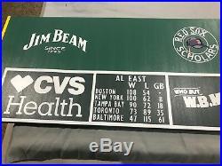 Boston Red Sox Fenway Park Green Monster Outfield Wall Scoreboard World Series