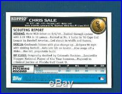 CHRIS SALE 2010 BOWMAN CHROME ROOKIE ON CARD AUTOGRAPH RED SOX, White Sox AUTO