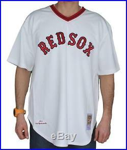 Carl Yastrzemski Boston Red Sox Mitchell & Ness Authentic 1975 Jersey 2XL/52