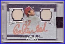 Carlton Fisk Autograph Dual Jersey /5 2019 Topps Dynasty Auto Boston Red Sox