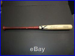Christian Vazquez Boston Red Sox Autographed GAME USED Bat Inscribed coa=JSA