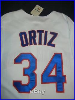 DAVID ORTIZ Majestic Dominican WORLD BASEBALL CLASSIC Jersey L Boston Red Sox 06