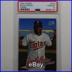 David Ortiz 1997 Fleer Ultra PSA 10 GEM MINT mlb Red Sox #518 rc