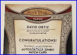 David Ortiz 2017 Topps Five Star Auto Jumbo Majestic Jersey Patch #1/1 Signature