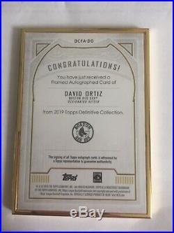 David Ortiz 2019 Topps Definitive Purple Framed Auto 9/10 Boston Red Sox