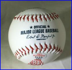 David Ortiz / Boston Red Sox / Autographed Red Sox Logo Logo Oml Baseball / Coa