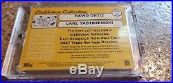 David Ortiz/Carl Yastrzemski 2017 Topps Heritage Dual Patch Auto #9/10 Rare Gem