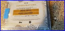 David Ortiz/Pedro Martinez 2020 Topps Definitive Red Dual Auto #1/1 ONE of ONE
