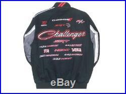 Dodge Challenger Jacket Mens Collage Logo Black Twill Jacket by JH Design