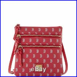 Dooney & Bourke MLB Boston Red Sox Triple Zip Crossbody Shoulder Bag