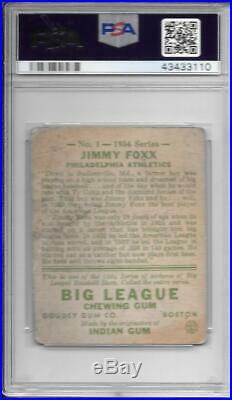 Jimmy Foxx 1934 Goudey Psa 1.5! Nicely Centered! Freshly Graded! Low Bin