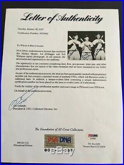 Mickey Mantle, Joe DiMaggio & Ted Williams Autographed 8x 10 Photo PSA/LOA