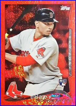 Mookie Betts 2014 Topps Update #US26 Red Hot Foil Sparkle Rookie RC (Red Sox)