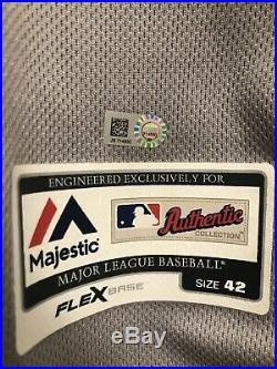 Mookie Betts Game Worn Red Sox Fathers Day Jersey Game Used MVP