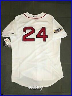 NWT Authentic 2007 BOSTON RED SOX #24 RAMIREZ World Series Jersey 48 Majestic
