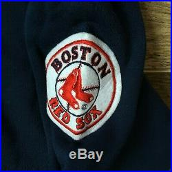 NWT NEW Boston Red Sox Vintage 90s Hooded Hoodie STARTER Script Sweatshirt Large