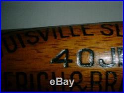 Old JIMMIE FOXX Bat 1930's RARE HICKORY TRADE MARK REG Louisville Slugger REDSOX