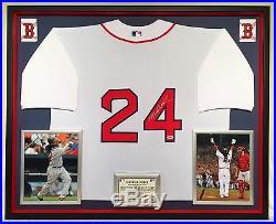 Premium Framed Manny Ramirez Autographed Boston Red Sox Jersey PSA COA redsox