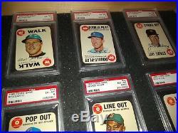 Psa Graded 1968 Topps Game Insert Vintage Cards- (16) Different Starter Set