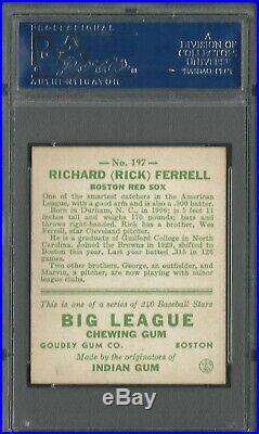 RICK FERRELL 1933 Goudey #197 PSA 5 EX HOF