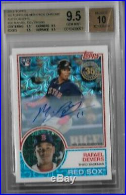 Rafael Devers Boston Red Sox 2018 Topps 1983 Silver pack chrome auto BGS 9.5