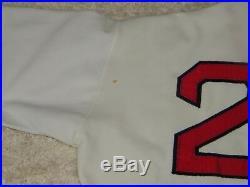Rare 1974 Carlton Fisk Game Worn Used Boston Red Sox Jersey Pullover Miedema Loa