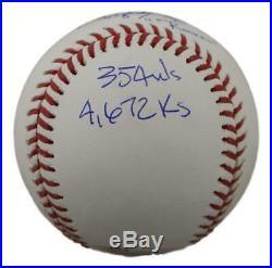 Roger Clemens Autographed/Signed Boston Red Sox OML Baseball Stat JSA 11892