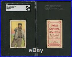 T206 Napoleon Nap Lajoie throwing SGC 3 Sweet Caporal 150/649 overprint