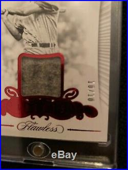 TED WILLIAMS 2018 Flawless Baseball Game Used Jersey Patch 10/10 Red Sox