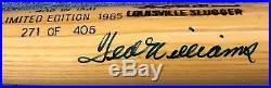 TED WILLIAMS AUTOGRAPHED LIMITED EDITION 271 of 406 COMMEMORATIVE BAT FULL JSA