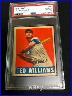Ted Williams 1948 Leaf #76 PSA 2 Boston Red Sox