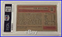 Ted Williams 1954 Bowman #66 PSA 3.5 VG+ Great Eye Appeal Boston Red Sox