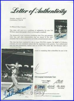 Ted Williams Original Brace 4x6 Autographed Photo Boston Red Sox Baseball PSA