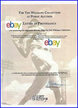 Ted Williams Signature Series Porcelain box set autographed from Estate /521